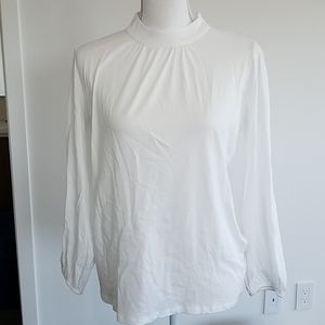 New Amour Vert Lucena white blouse top size small